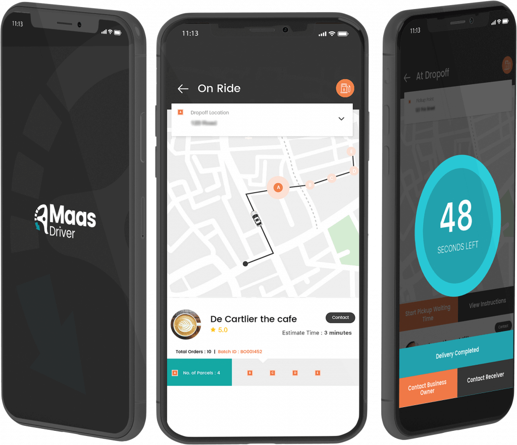 Maas Driver App Screens