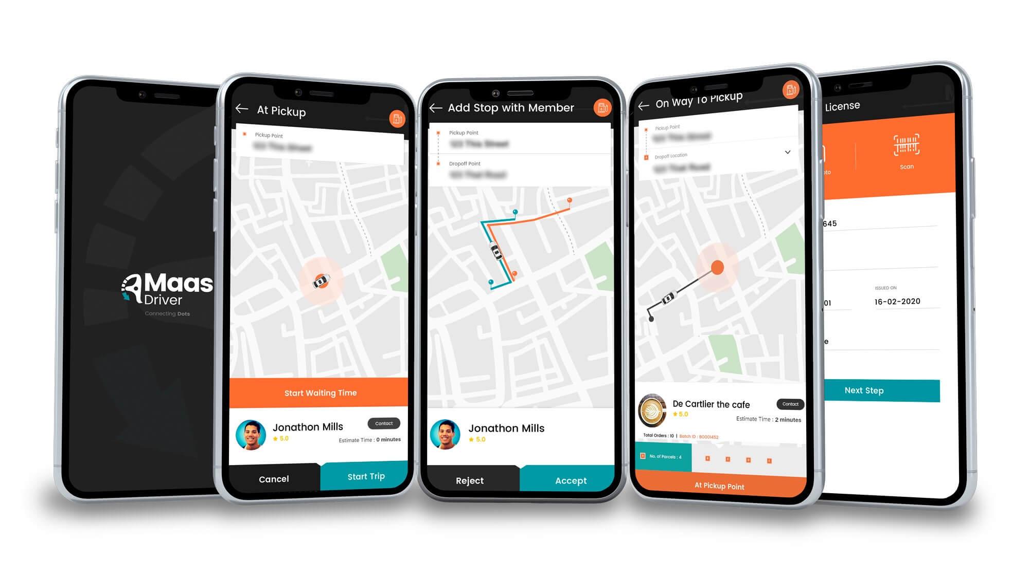 Multiple ZeMaas App Screens